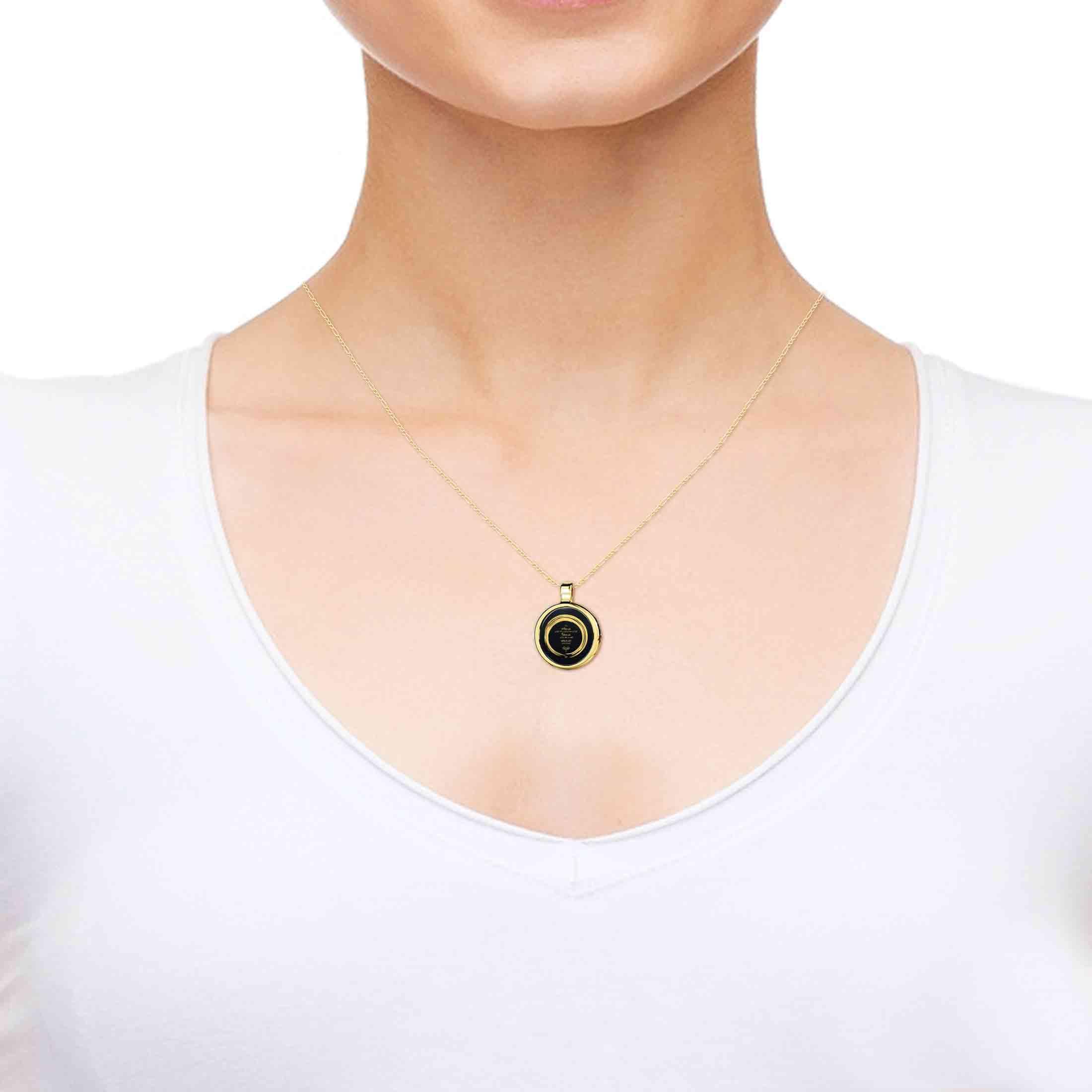 מתנה מקורית לגבר או לאישה - תכשיטים מיוחדים - שרשרת תפילת השלווה - תכשיטי נאנו