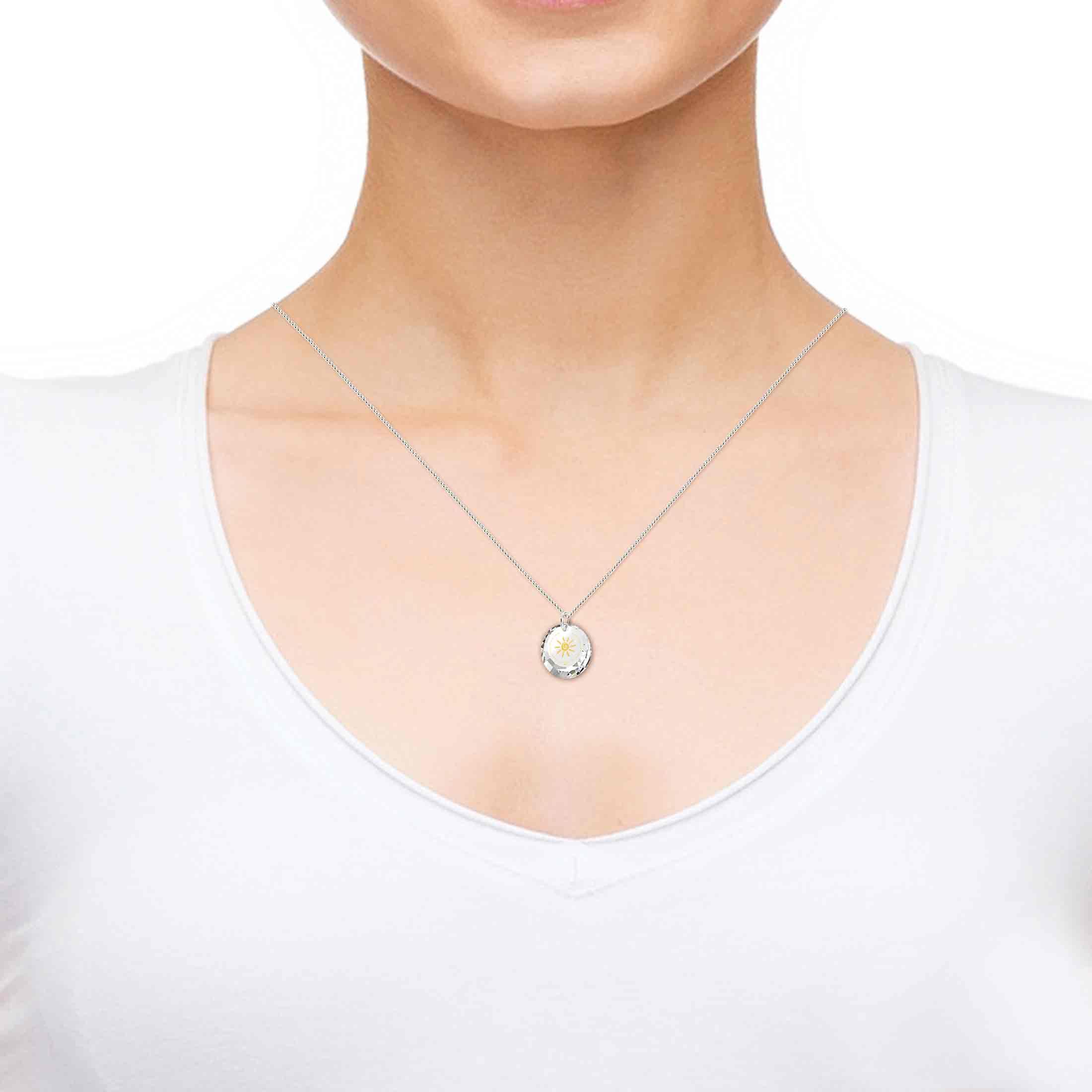 מתנה לבת מצווה - מתנות ליום הולדת לאישה - שרשרת זהב עם איחולים לאושר-בריאות-אהבה-שפע - תכשיטי ננו