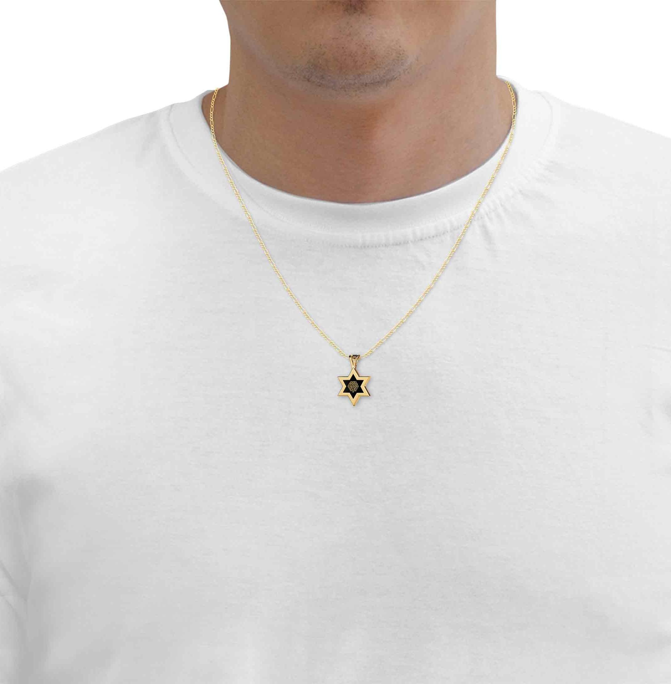 שרשרת מגן דוד – תכשיט לבנים - מתנות יקרות – תכשיטי נאנושרשרת מגן דוד – תכשיט לבנים - מתנות יקרות – תכשיטי נאנו