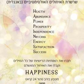 שרשרת חמסה - איחולים לבביים לאושר-Happiness - ננו תכשיטיםשרשרת חמסה - איחולים לבביים לאושר-Happiness - ננו תכשיטים