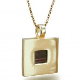 ננו בייבל - תליון מרובע זהב - תכשיטי ננוננו בייבל - תליון מרובע זהב - תכשיטי ננו