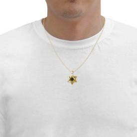 שרשרת מגן דוד זהב עם ברכת הכהנים - ננו תכשיטיםשרשרת מגן דוד זהב עם ברכת הכהנים - ננו תכשיטים