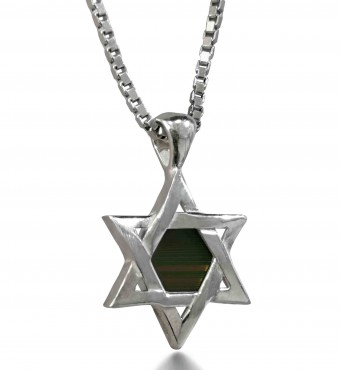 Bible Necklace: Star of David Pendant with Nano Bible - Nano JewelryBible Necklace: Star of David Pendant with Nano Bible - Nano Jewelry